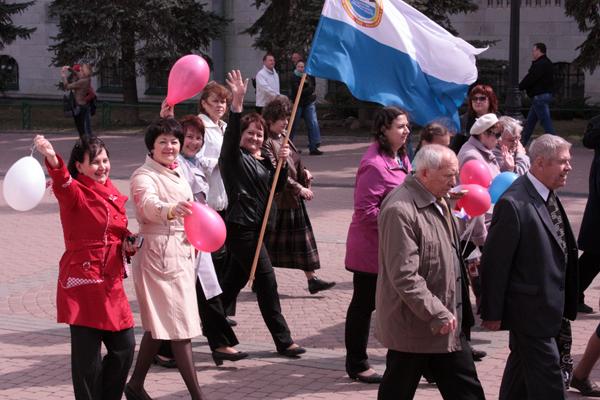 Работники Нижегородского облпотребсоюза приняли участие в праздничной демонстрации 1 мая