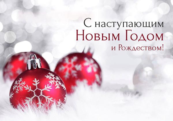 Поздравляем с наступающим Новым Годом и Рождеством!!!